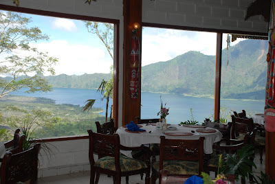 kintamani view from inside of restaurant gunawan