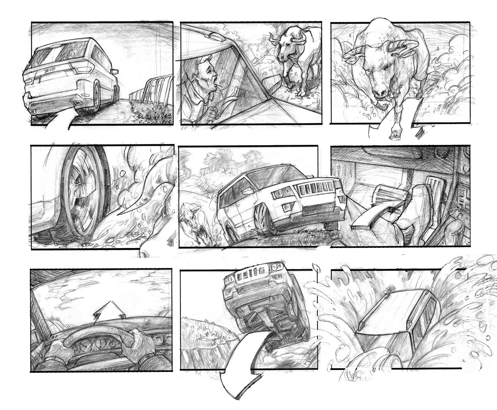 Rough Storyboard Of Six Feet Under Main Title Sequence  Film