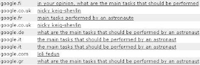 Yeah, but seriously, what ARE the main tasks that should be performed by an astronaut?