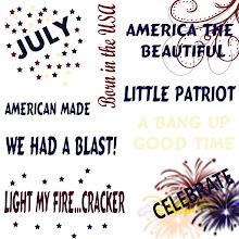 Free Digital 4th of July Word Art