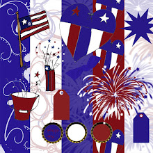 Free Fourth of July Digital Scrapbook Set Country Pride