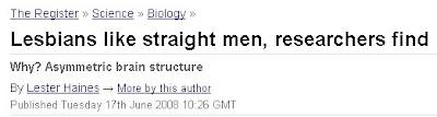 Lesbians like straight men
