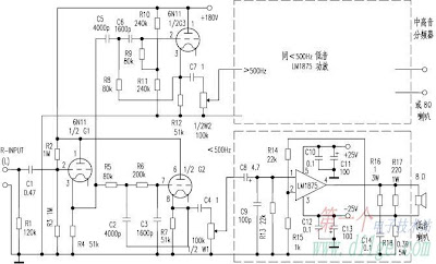 Hybrid Amplifier using IC and Tube