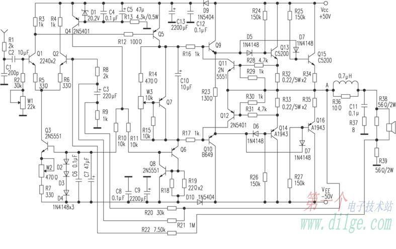 dynamic feedback amplifier another electronics circuit Free Electronic Circuits and Schematics Simple Electronic Projects Circuit Diagram