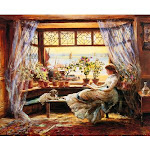 Reading by the Window by Charles J. L. Lewis