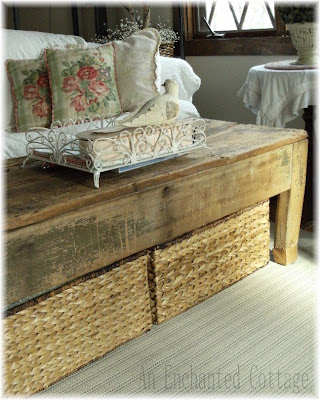 An enchanted cottage storage issue solved for Coffee table with storage baskets