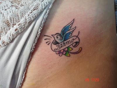 bird tattoos. Small and Cute Bird Tattoo