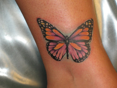 Colorful Butterfly Tattoo. beautiful butterfly tattoo