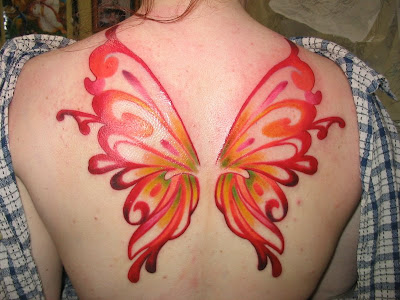 Fairy Wings Tattoo This fairy wings tattoo is one of the most beautiful