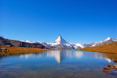 matterhorn with reflection in the lake