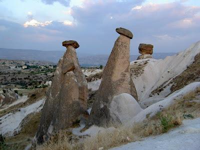 <br />Fairy chimneys in Cappadocia