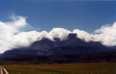 Auyantepui surrounded by clouds