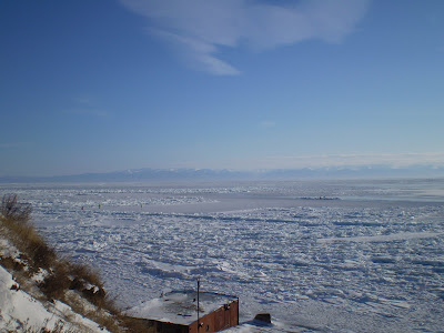 Lake Baikal during winter months
