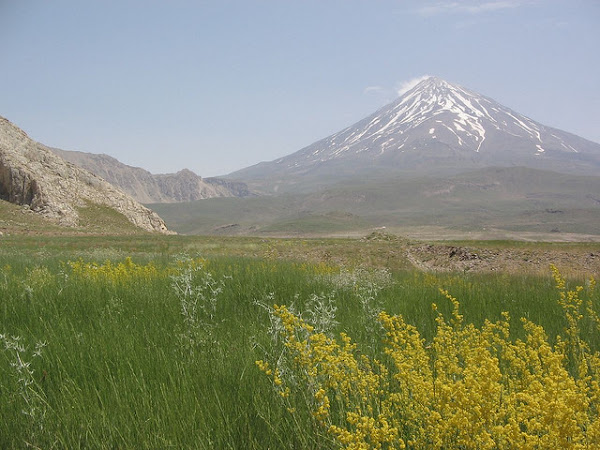 Mount Damavand during spring