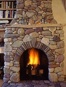 Chic coles longing for an enclosed porch for Fieldstone fireplace