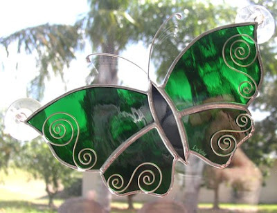 Flowers, Butterflies, Dragonflies, Sailboats Stained Glass Windows