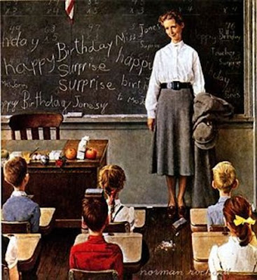 school teacher by Norman Rockwell
