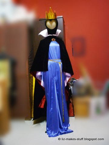 The completed costume & Completed : Evil Queen Costume - A Quick Tutorial | I Can Do That ...