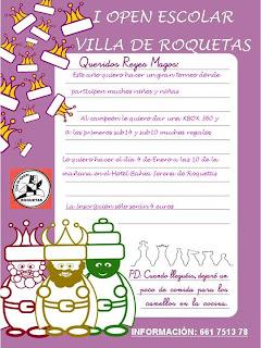 I OPEN ESCOLAR VILLA DE ROQUETAS