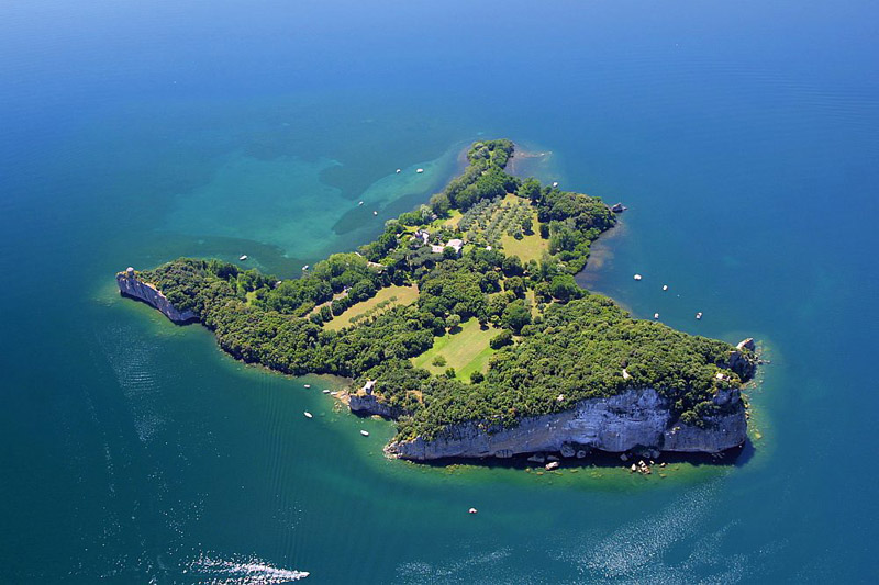 Island Bisentina, Lake Bolsena, Italy