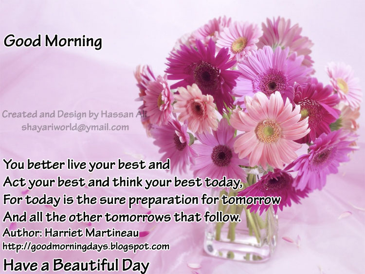 : Good Morning Saturday. 8 Inspiring Beautiful Quotes for the day