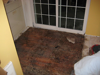 Rubble And Reconstruction The Kitchen - Removing black tar flooring adhesive