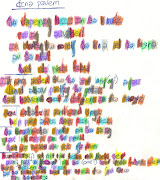 Dinner Poem/ Transcribed into Phonetic Alphabet, Sound Patterns Color Coded/ .