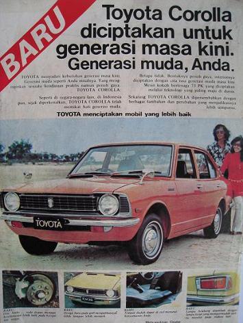 Iklan Jadul Mobil Toyota Jadul Retro