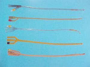 sondas vesicales de varios tamaños