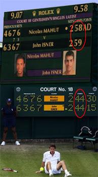 Mahut-Isner y su partido de 10 horas