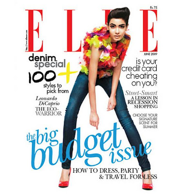 Diana Penty on the cover of Elle magazine