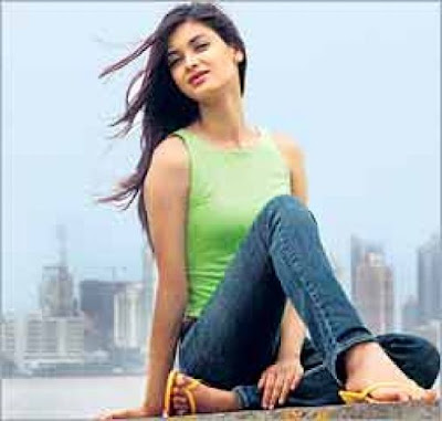 Diana Penty on sea shore