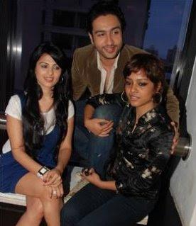 Shahana with Adhyayan and Anjana