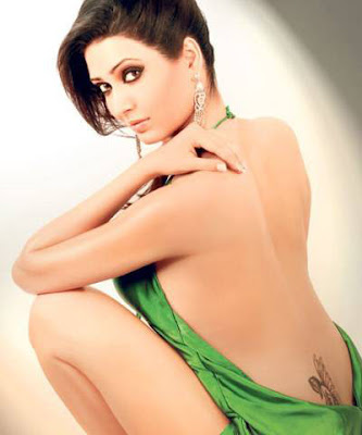 Karishma Tanna poses backless