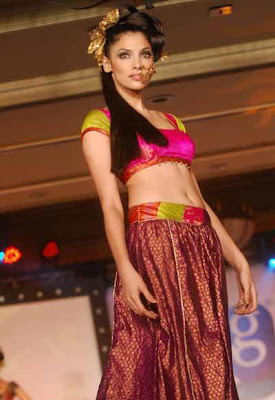 Indrani Dasgupta walks on ramp
