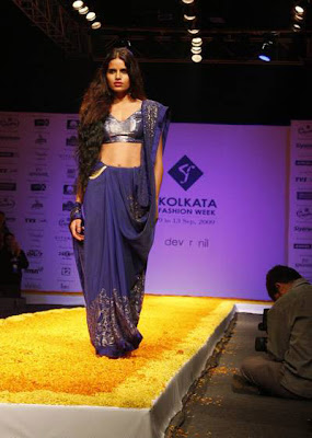 Models at the Kolkata Fashion Week