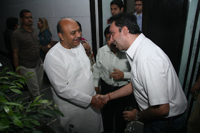 Sudhanshu Ji with Ankur Sachdeva at Bonsai launch party