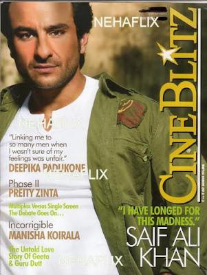 Saif ali Khan on Cineblitz Magazine
