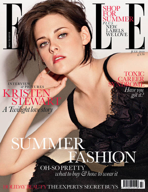 Kristen Stewart Elle Magazine UK July 2010. COVER: Kristen Stewart