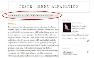 Menu Alfabtico