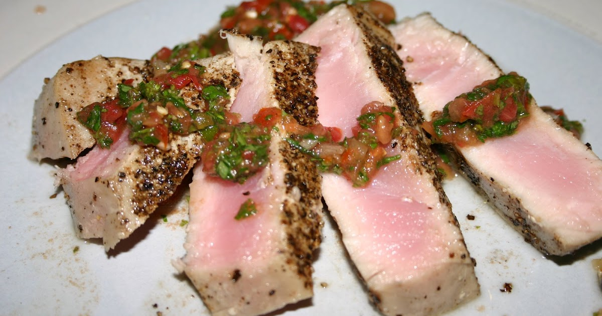 Stop and Smell the Basil: Grilled Tuna with Tomato-Cilantro Salsa