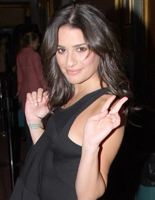 lea michele wrist tattoos