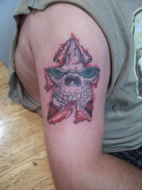 rip tattoos. a awesome tattoo designs, skull tattoo skin rip. forming star