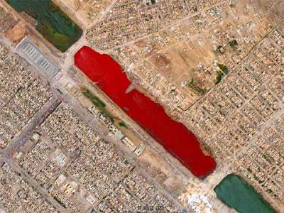 伊拉克 神秘 血湖 -伊拉克薩德爾城外的神秘血湖