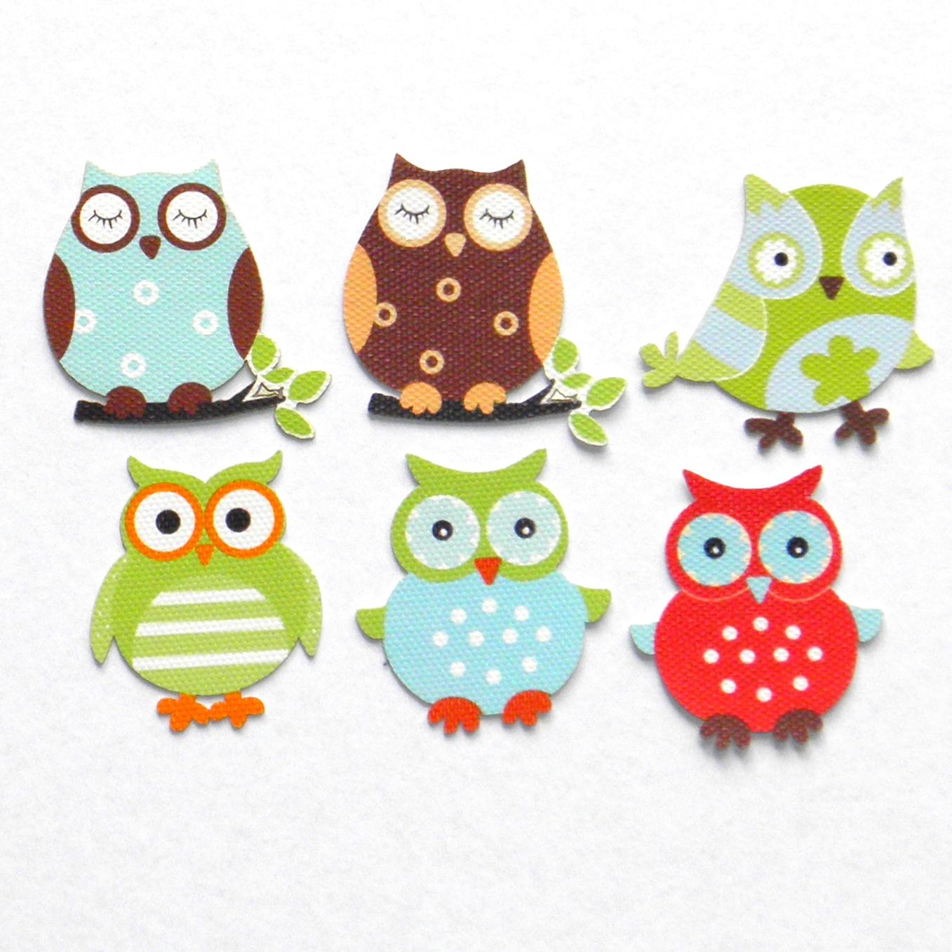 Lorna blue studio cute canvas owls