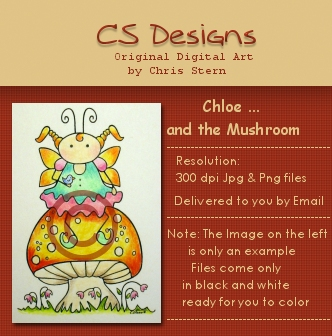 Chloe Mushroom Faerie digital stamp