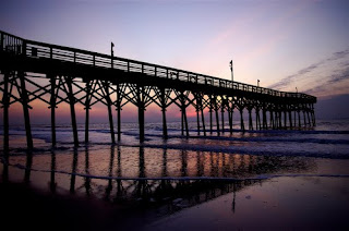 Myrtle Beach pier at sunrise