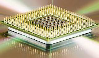 photo of a computer chip