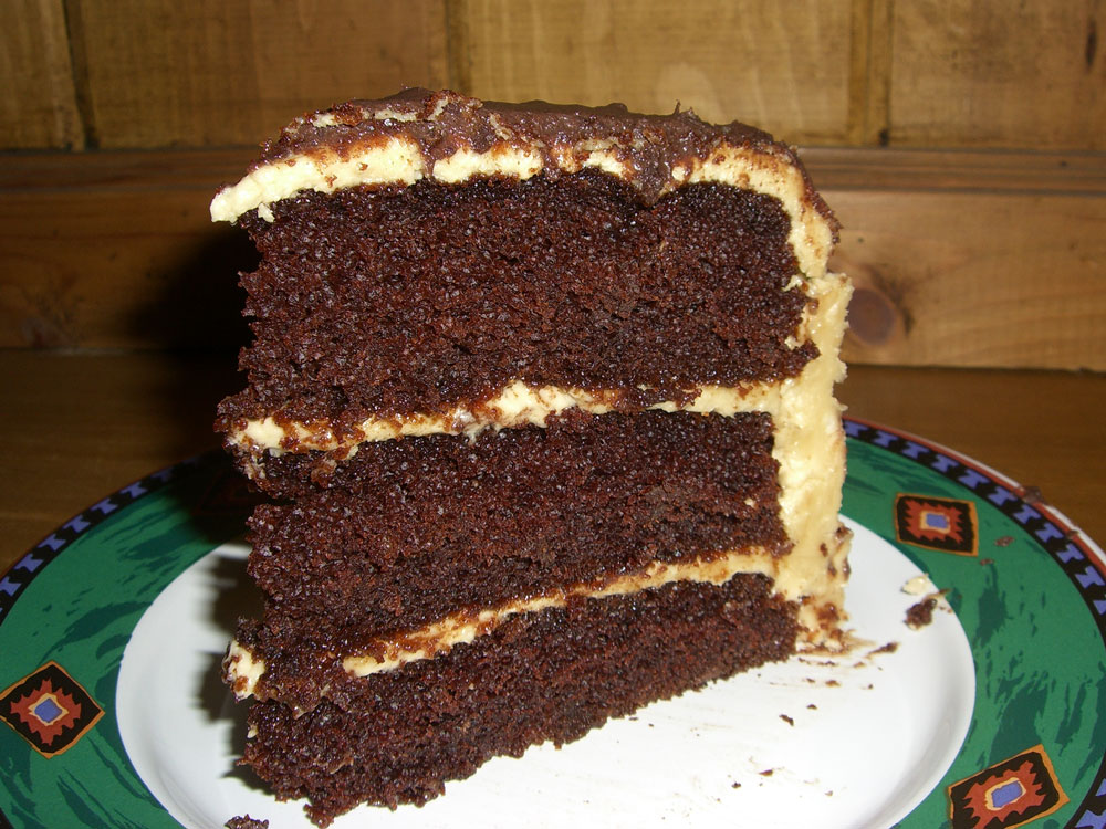 Maple Macaroni: Chocolate-Peanut Butter Cake