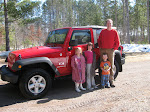 Cameron's Cherry Red Jeep